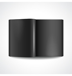 Book with black pages vector image vector image