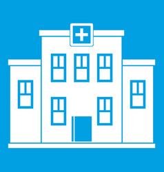 City hospital building icon white vector