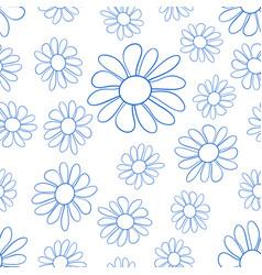 contour flower pattern vector image