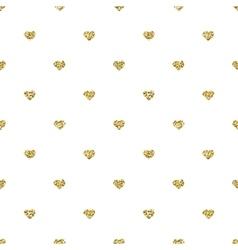 Glitter heart seamless pattern vector
