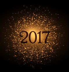 Golden glitter background for 2017 new year eve vector
