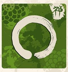Green zen circle traditional enso vector