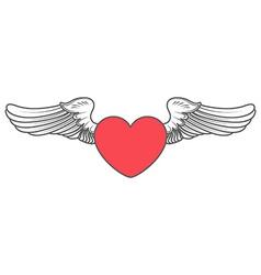 heart angel design elements vector image
