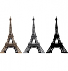 illustration of Eiffel tower vector image vector image