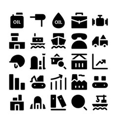 Industrial colored icons 3 vector