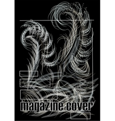 magazine cover vector image vector image