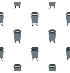 Metal rubbish bin pattern seamless vector