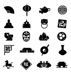 Oriental icons vector
