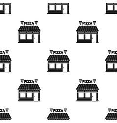 Pizzeria icon in black style isolated on white vector