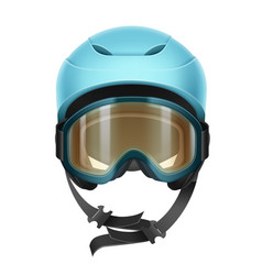 Protective helmet with goggles vector