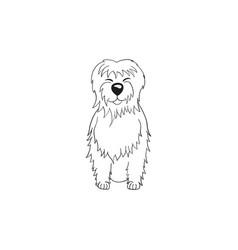 Tibetan terrier cartoon dog icon vector