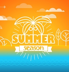 Travel Summer season concept vector image vector image