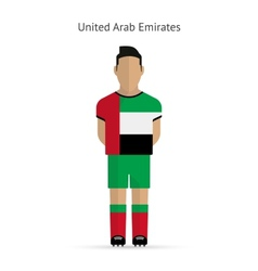 United arab emirates football player soccer vector