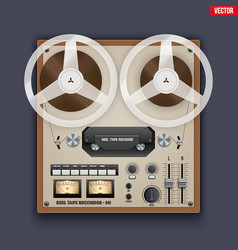 vintage analog reel tape recorder vector image