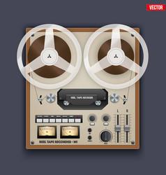 vintage analog reel tape recorder vector image vector image
