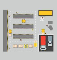 Warehouse top view scheme map vector