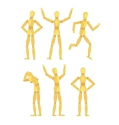 Wooden mannequins vector image