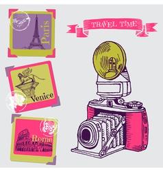 Vintage Camera vector image