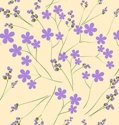 Seamless pattern with purple spring flowers It can vector image