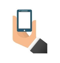 Smartphone hand gadget design vector