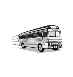 Shuttle coach bus retro vector