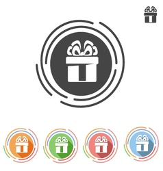 Icon gift with bow vector