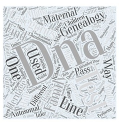 Family find genealogy heritage word cloud concept vector