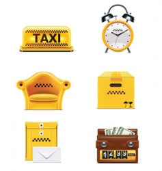 taxi service icon set  vector image