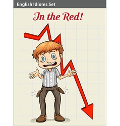 A poster showing a boy with an arrow vector