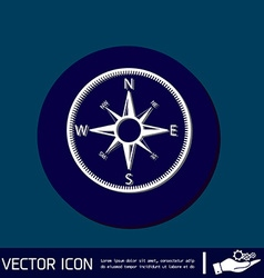 Compass icon orienteering traveling or camping in vector