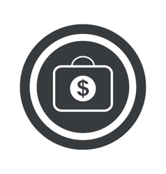 Round black dollar bag sign vector