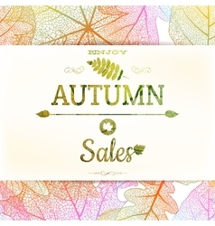 Autumn sale background eps 10 vector