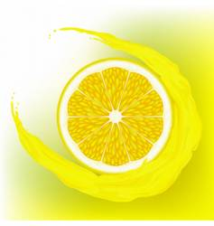 lemon with a wave juice vector image