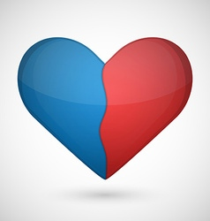 Broken heart on a white background vector