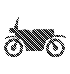 Motorcycle sign on white vector