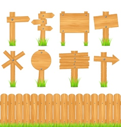 Wooden objects vector
