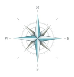Antique wind rose symbol for vector image