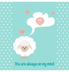 In love sheep vector