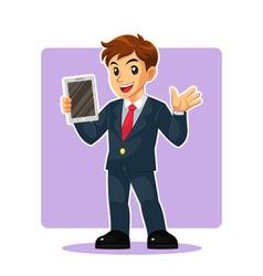 Businessman Mascot Character vector image