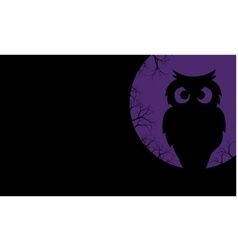 Silhouette of owl halloween backgrounds vector