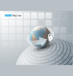 abstract background with globe 3 vector image vector image
