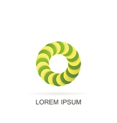 Abstract circle logo vector image vector image