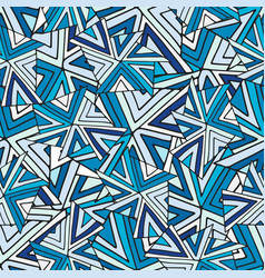 Abstract seamless pattern cold geometric vector