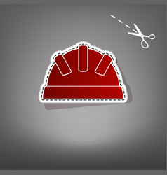 Baby sign red icon with for vector