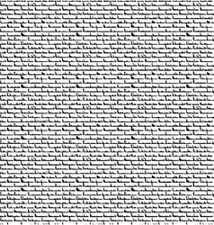 Black bricks-overlapping pattern vector image