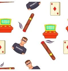 Casino and gambling pattern cartoon style vector