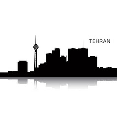 Cityscape of tehran vector