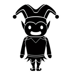 cute harlequin icon vector image