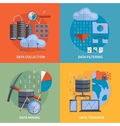 Data processing 2x2 design concept vector