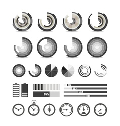Different chart and indicators collection vector image vector image